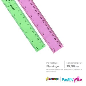Flamingo Plastic Ruler Fancy Colour