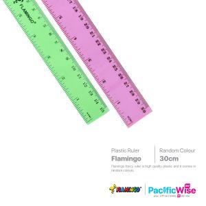 Flamingo/Plastic Ruler Fancy Colour/Pembaris Plastik Warna Mewah