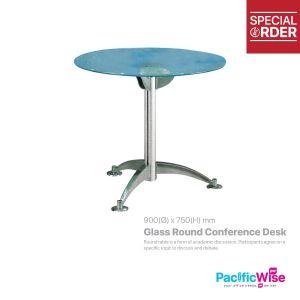 Glass Round Conference Desk