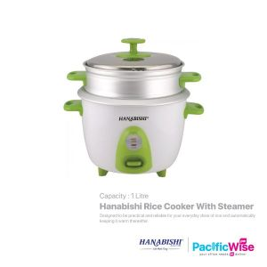 Hanabishi Rice Cooker With Steamer (1.0L)