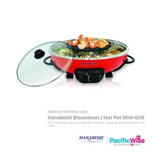 Hanabishi Steamboat / Hot Pot With Grill (4.5L)