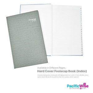 Hard Cover Foolscap Book (Index)