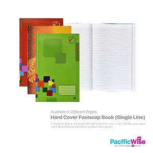 Hard Cover Foolscap Book (Single Line)
