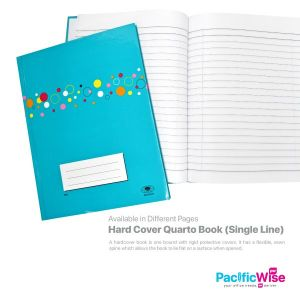 Quarto Hard Cover Book (Single Line)