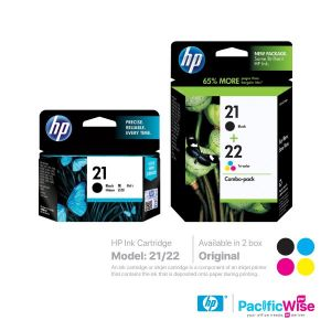 HP Ink Cartridge 21 Black / 22 Tricolour Combo Pack (Original)