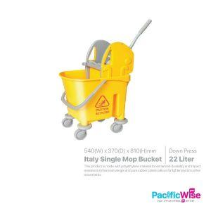 Italy Single Mop Bucket 22 Litre (Down Press)