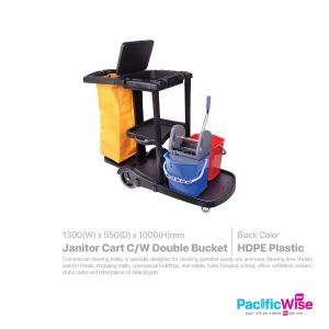 Janitor Cart Come with Double Bucket
