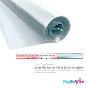 Lion File Super Clear Book Wrapper (5m x 340mm)