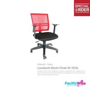 Lowback Mesh Chair/Kerusi Punggung Rendah/M-103L