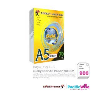 Lucky Star/Lucky Star A5 Paper/A5 Kertas 70gsm/Copier Paper (900's/Ream)