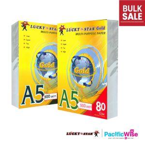 A5 Paper/Lucky Star/A5 Kertas 80gsm/A5 Kertas 70gsm/Copier Paper (900'S/Ream)