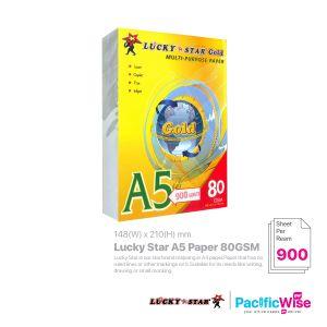 Lucky Star/Lucky Star A5 Paper/A5 Kertas 80gsm/Copier Paper (900's/Ream)