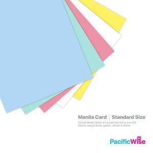 Manila Card Standard Size/Saiz Standard Kad Manila/Card Stock Paper (10'S)