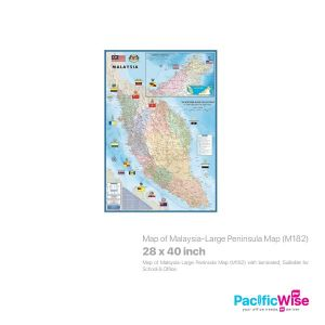 Map of Malaysia-Large Peninsula Map (M182)