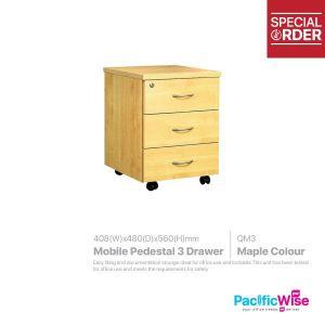 Mobile Pedestal 3 Drawer (QM3)