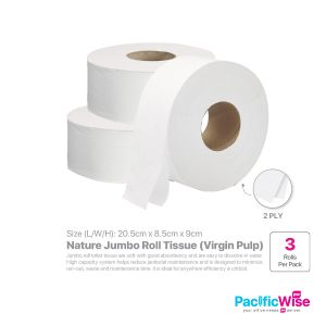 Nature Jumbo Roll Tissue (JRT) Virgin Pulp (3'S/PKT)