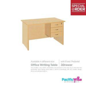 Office Writing Table with Fixed Pedestal 3Drawer