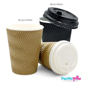 Paper Hot Cup 8oz with Lid (25pcs) Disposable Coffee Hot Sweet Corn Cup Thick