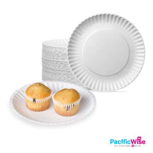 Paper Plate/White/Disposable Plate/Plat Kertas/7in/9in (20'S)