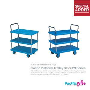 Plastic Platform Trolley 3 Tier
