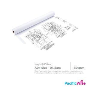 Plotter Paper/Kertas Plotter/Paper Roll/A0+ Size (Min 3 Rolls)