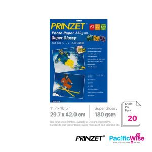 Prinzet A3 Photo Paper Super Glossy 180GSM (20'S)