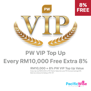 PW VIP Top Up Value (FREE Additional 8%)