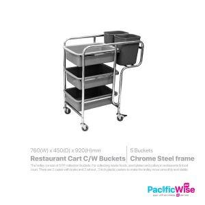 Restaurant Cart with Buckets