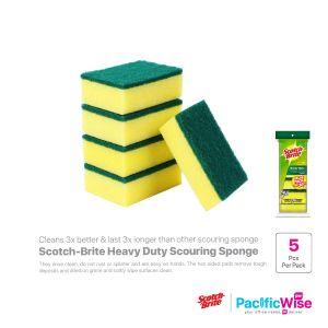 Scotch-Brite Heavy Duty Scouring Sponge (1 x 5pcs)