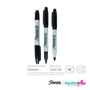 Sharpie/Permanent Marker/Penanda Kekal/Writing Pen/Twin Tip/1.0-0.3mm