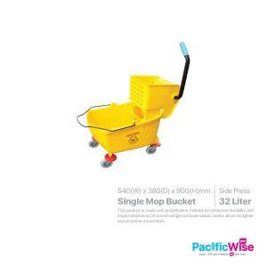 Single Mop Bucket 32 Litre (Side Press)