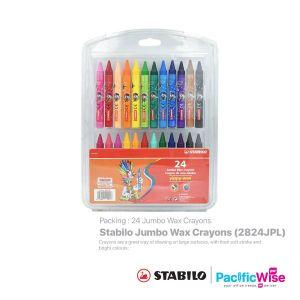 Stabilo/Jumbo Wax Crayons/Lilin Krayon Jumbo/Colouring/ 2824JPL (24'S)
