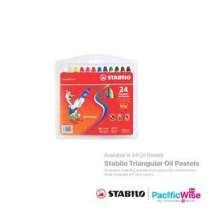Stabilo/Triangular Oil Pastels/Pastel Minyak Segitiga/Colouring/2624PL (24'S)