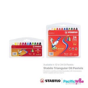 Stabilo/Triangular Oil Pastels/Pastel Minyak Segitiga/Colouring/2612PL/2624PL (12/24'S)