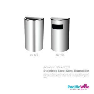Stainless Steel Semi Round Bin