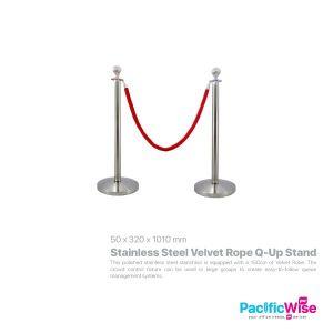 Stainless Steel Velvet Rope Q-Up Stand