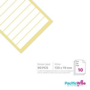 Rectangle Sticker Label/Label Pelekat Segi Empat/Sticker Label/135mm x 19mm