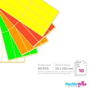 Rectangle Sticker Label/Label Pelekat Segi Empat/Sticker Label/25mm x 100mm
