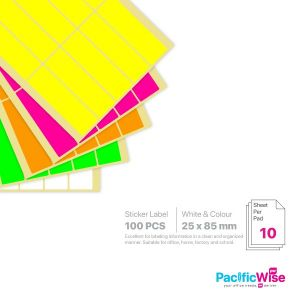 Rectangle Sticker Label/Label Pelekat Segi Empat/Sticker Label/25mm x 85mm