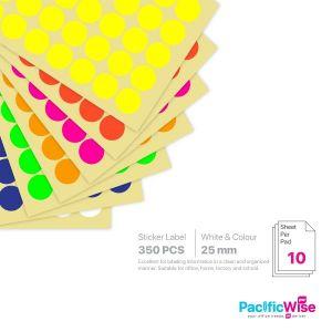 Round Sticker Label/Label Pelekat Bulat/Sticker Label/25mm