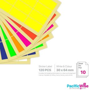 Rectangle Sticker Label/Label Pelekat Segi Empat/Sticker Label/30mm x 64mm