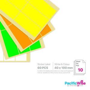 Rectangle Sticker Label/Label Pelekat Segi Empat/Sticker Label/40mm x 100mm
