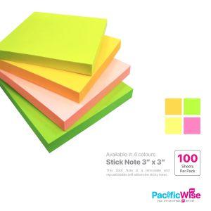 Stick Note 3X3 (Cyber Colour)