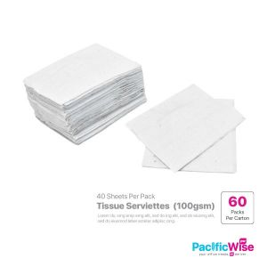 Tissue Serviettes 100gsm (60 Pack x 40 Sheet)