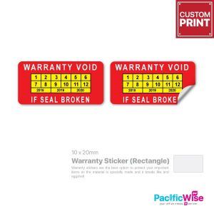 Customized Printing Warranty Sticker (Rectangle)