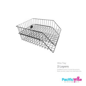 Letter Tray/Tray Wire 2 Tier/Dulang Surat 2 Tingkat/File Filing(2'S/Set)
