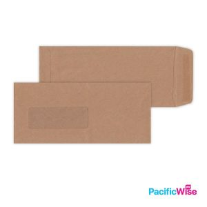 Brown Manila Envelope (Window) 9'' X 4''