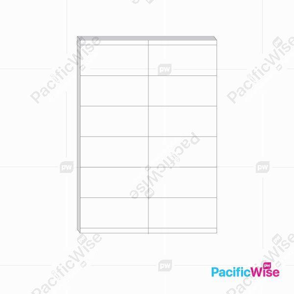 A4 Simili Sticker Label 12 Up 105mm x 49.5mm (100'S)