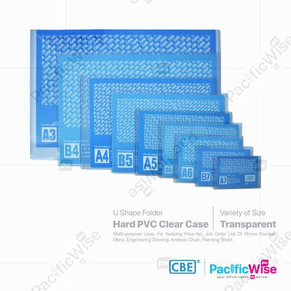 CBE Clear Holder Hard PVC