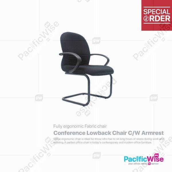 Conference Lowback Chair C/W Armrest